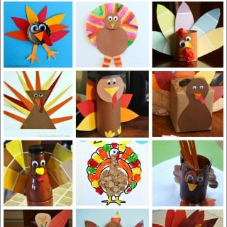 50 Turkey Thanksgiving Crafts