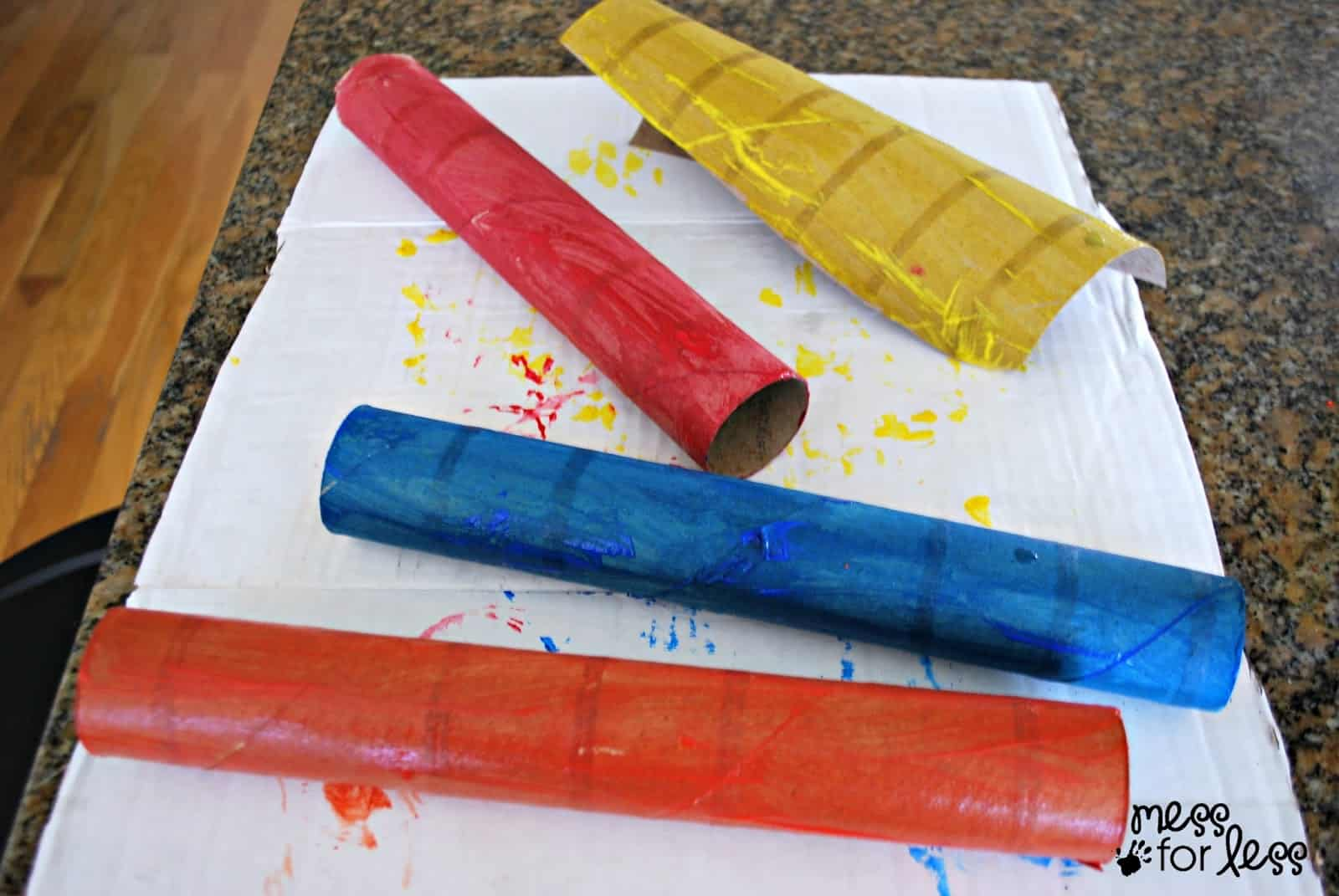 painted paper towel tubes