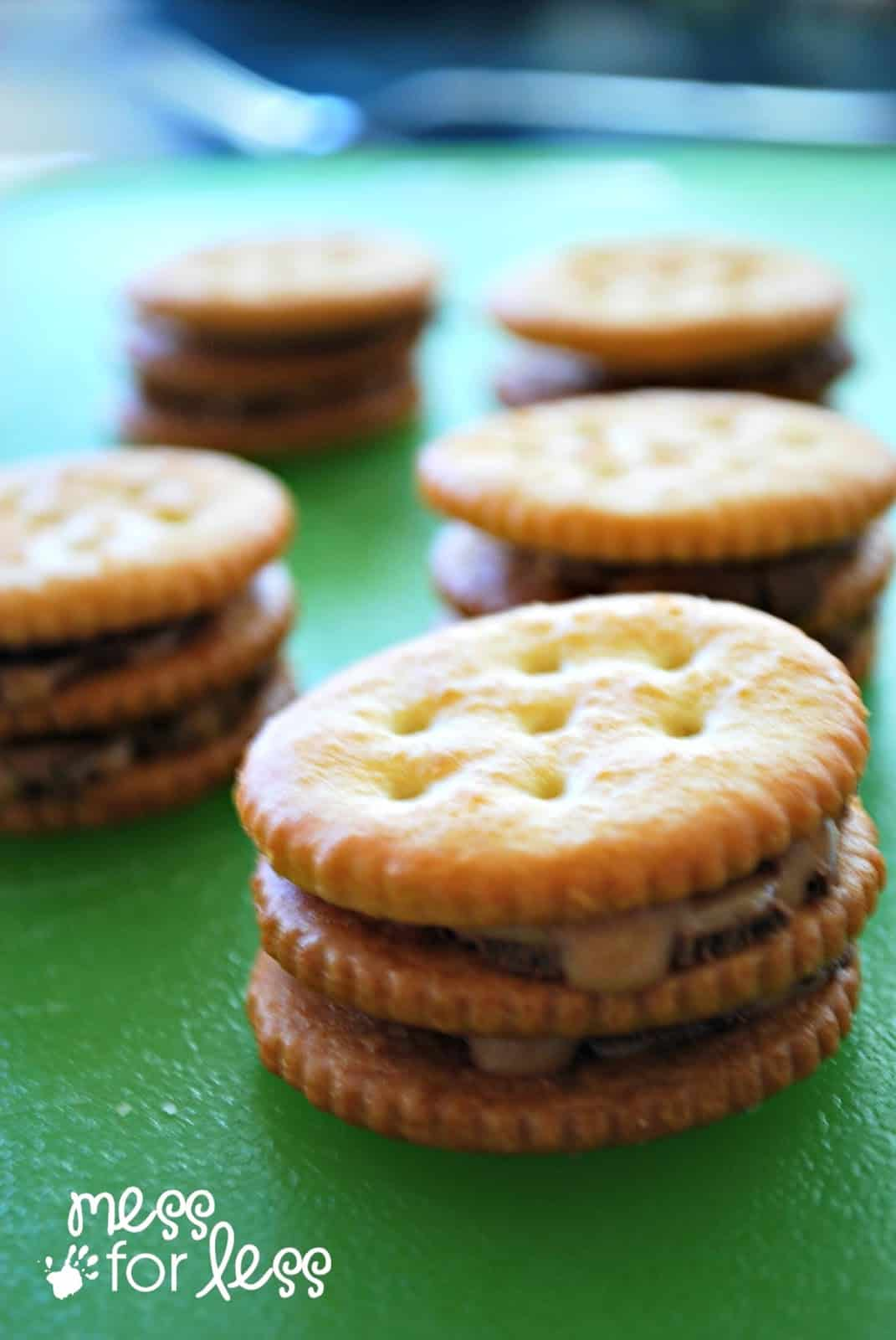 Double Stuffed Rolo Ritz Crackers Food Fun Friday Mess