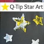 Kids Art Project: Q-Tip Star Art