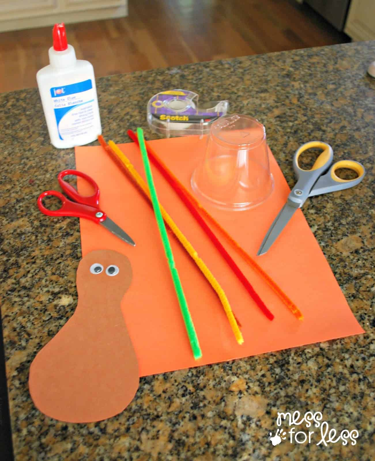 thanksgiving crafts for kids pipe cleaner turkey mess