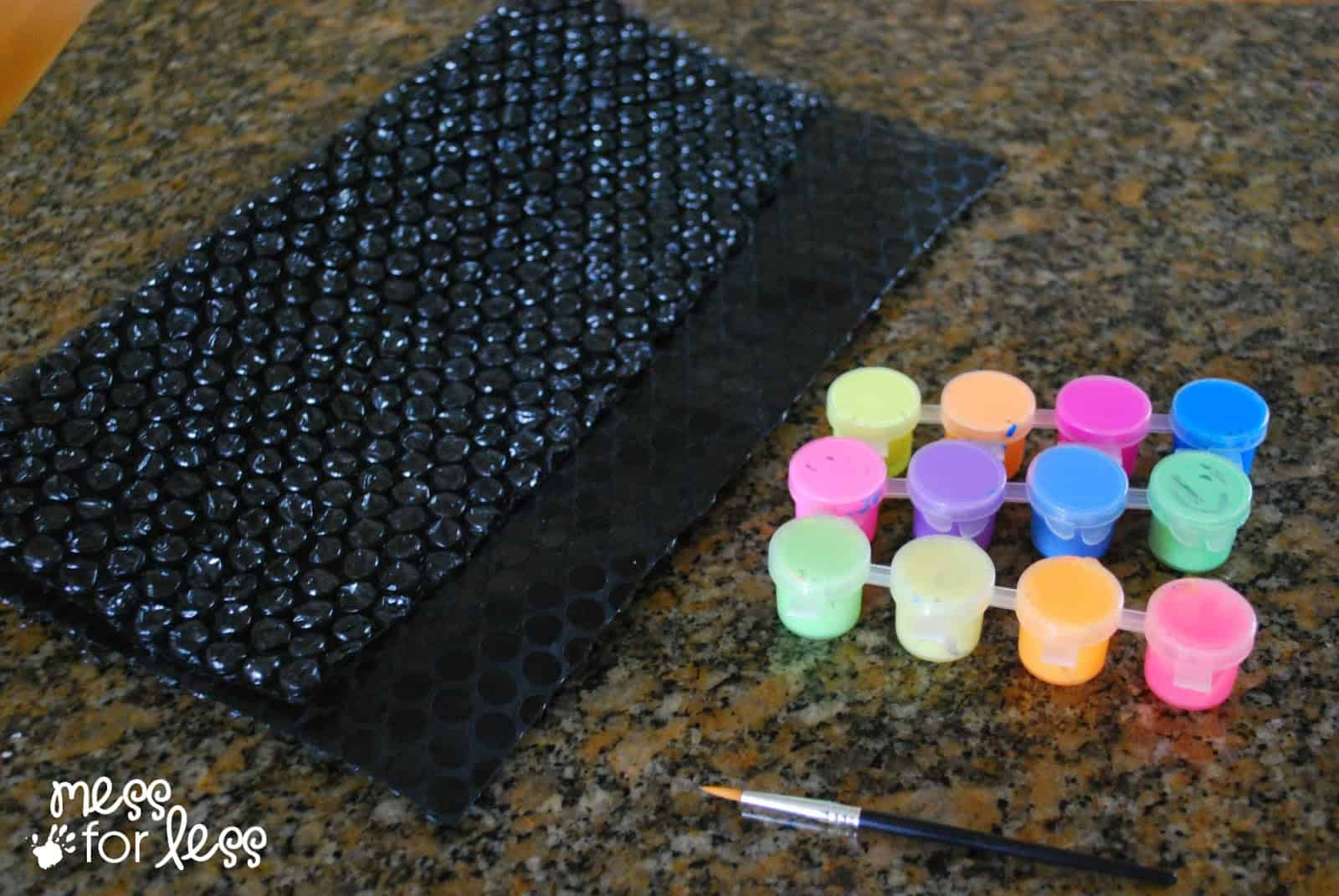 bubble wrap painting supplies