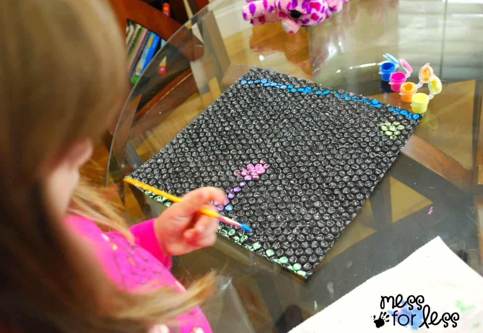 Black Bubble Wrap Bubble Wrap Art For Kids