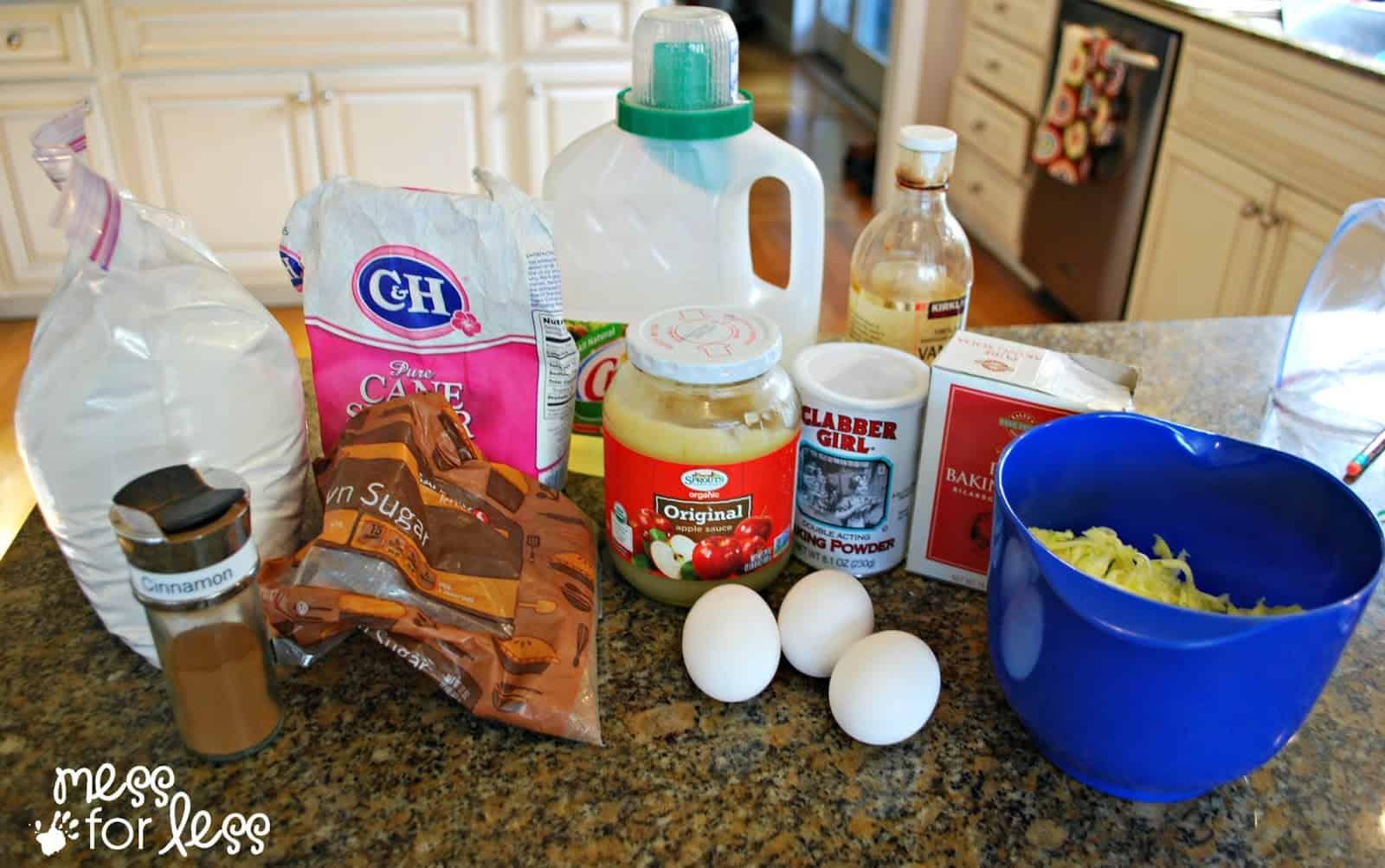 zucchini bread recipe ingredients