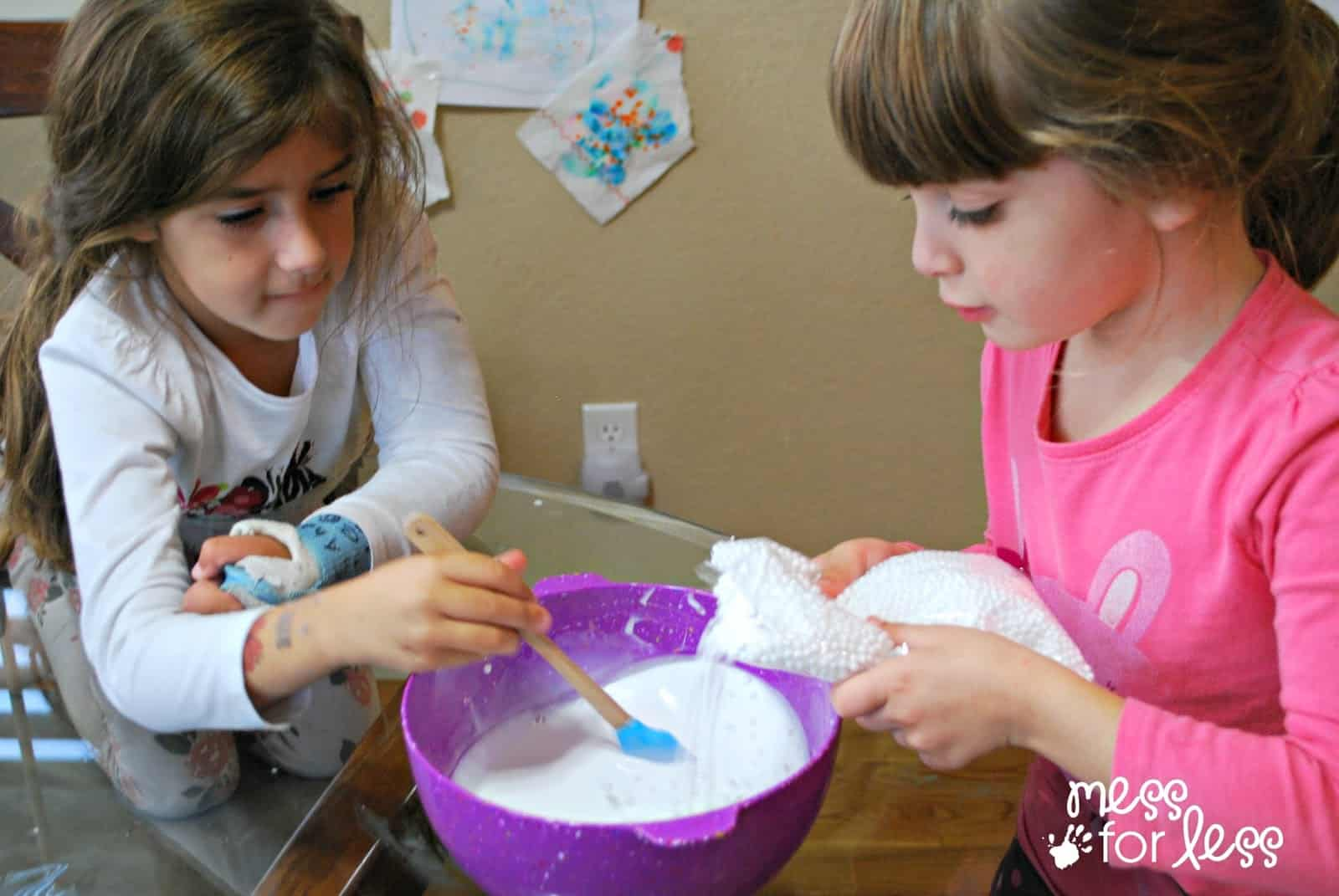 snow slime recipe