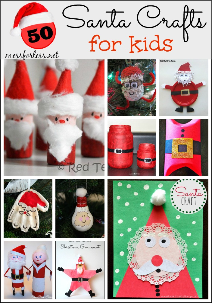 50 Santa Crafts for Kids plus Our Favorite Santa Books - Mess for Less