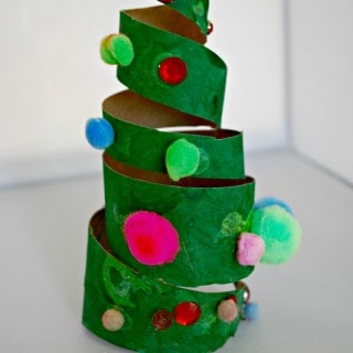 Christmas Crafts for Kids – Cardboard Tube Christmas Tree
