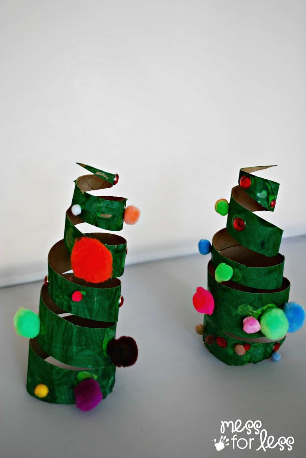 Christmas Crafts For Kids Cardboard Tube Christmas Tree Mess For