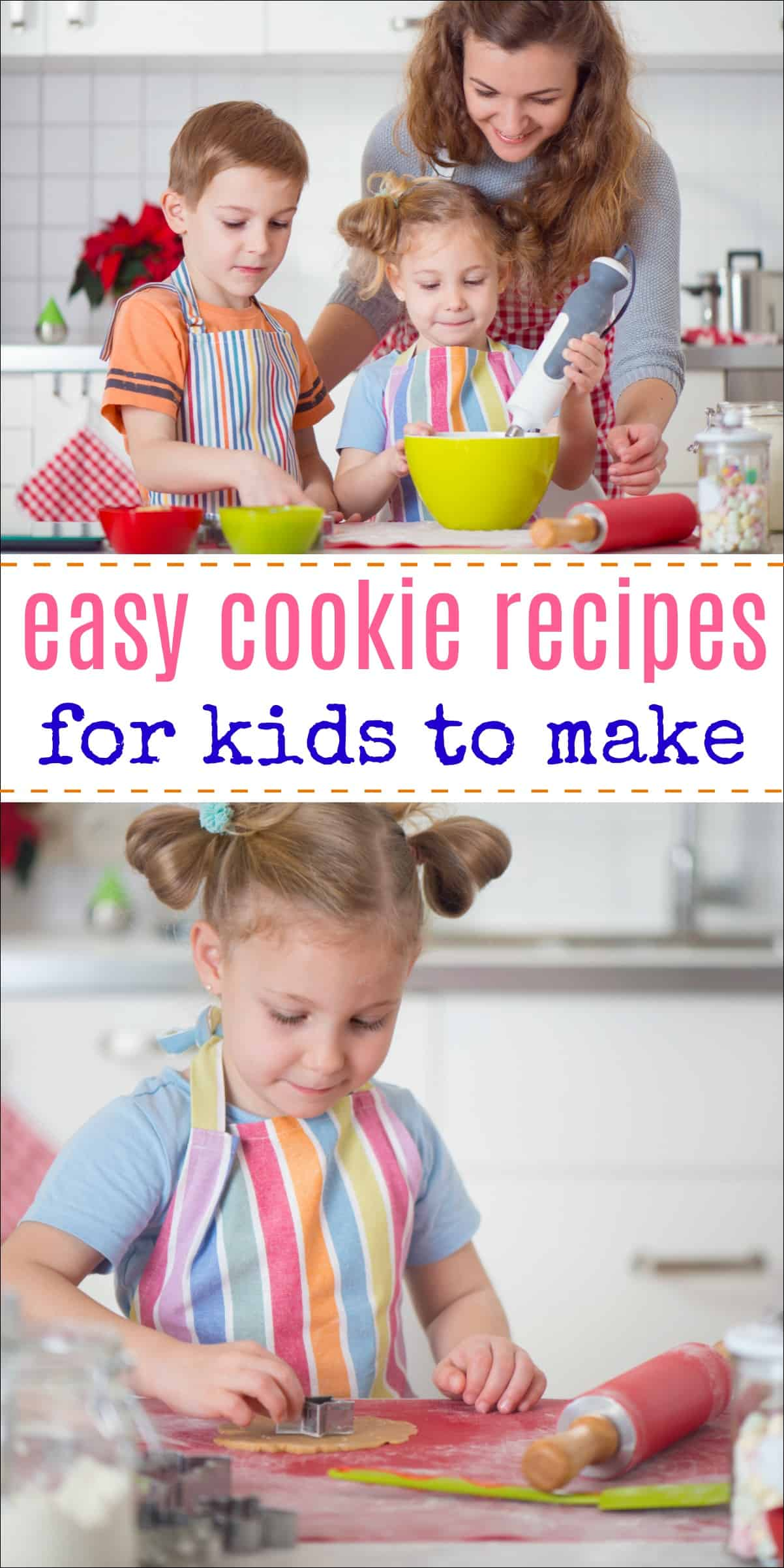 Cookie recipes for kids - All of these delicious cookies have been baked by kids. Try them out with your child for a fun bonding experience! #cookies #cookierecipe #bakingwithkids