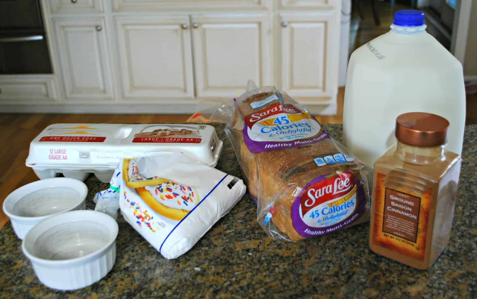 Ingredients to make french toast #45DelightfulPeople #AD