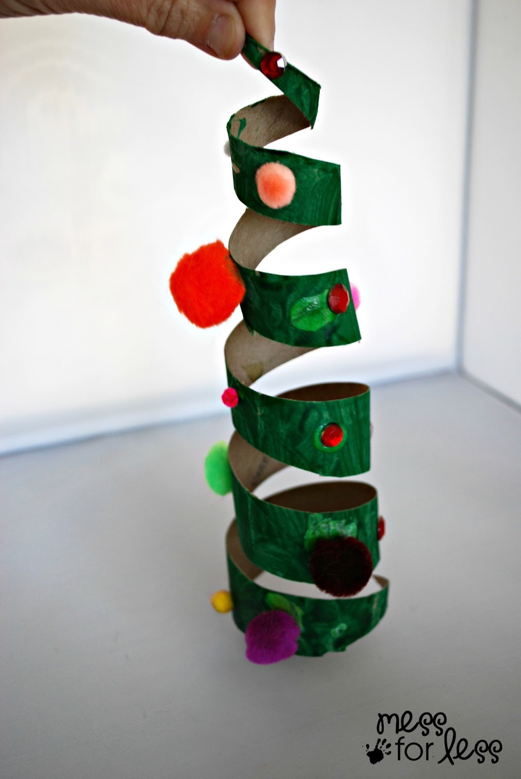 Christmas Crafts for Kids - Cardboard Tube Christmas Tree - Mess for ...