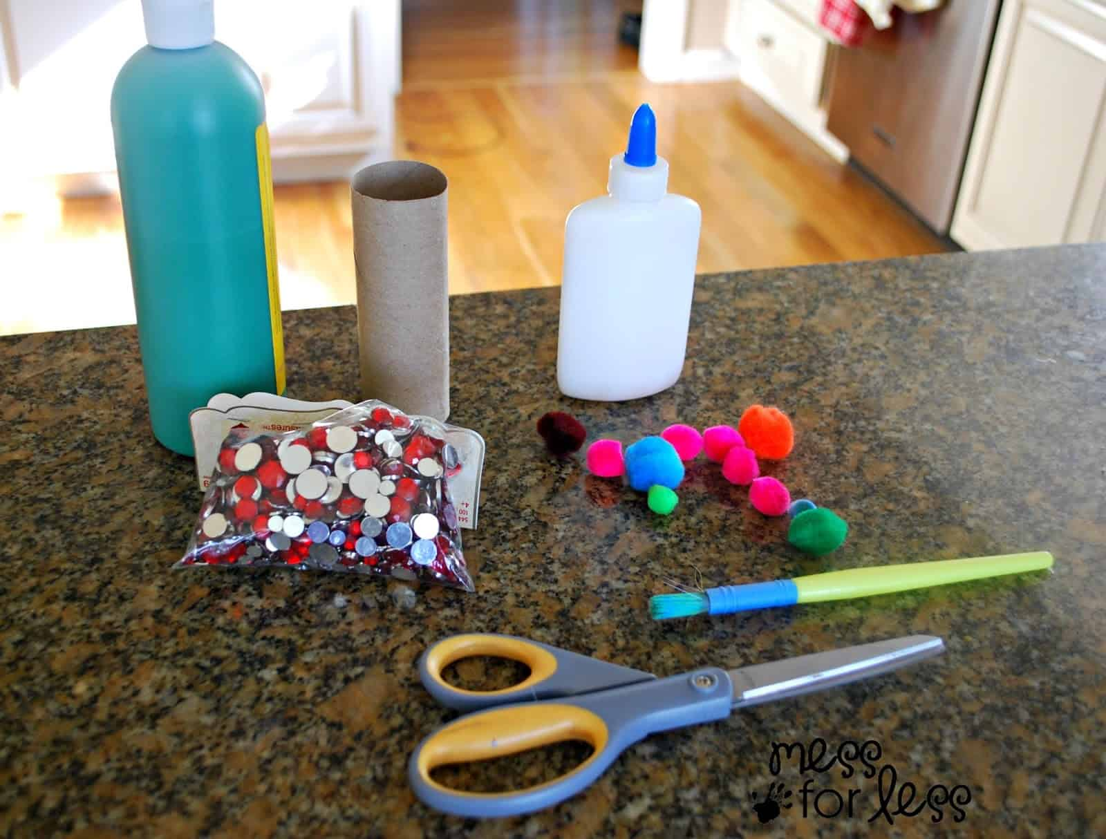 supplies need to make Christmas Crafts for kids