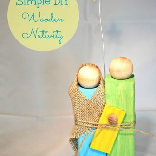 Homemade Christmas Gifts – Wooden Nativity Craft