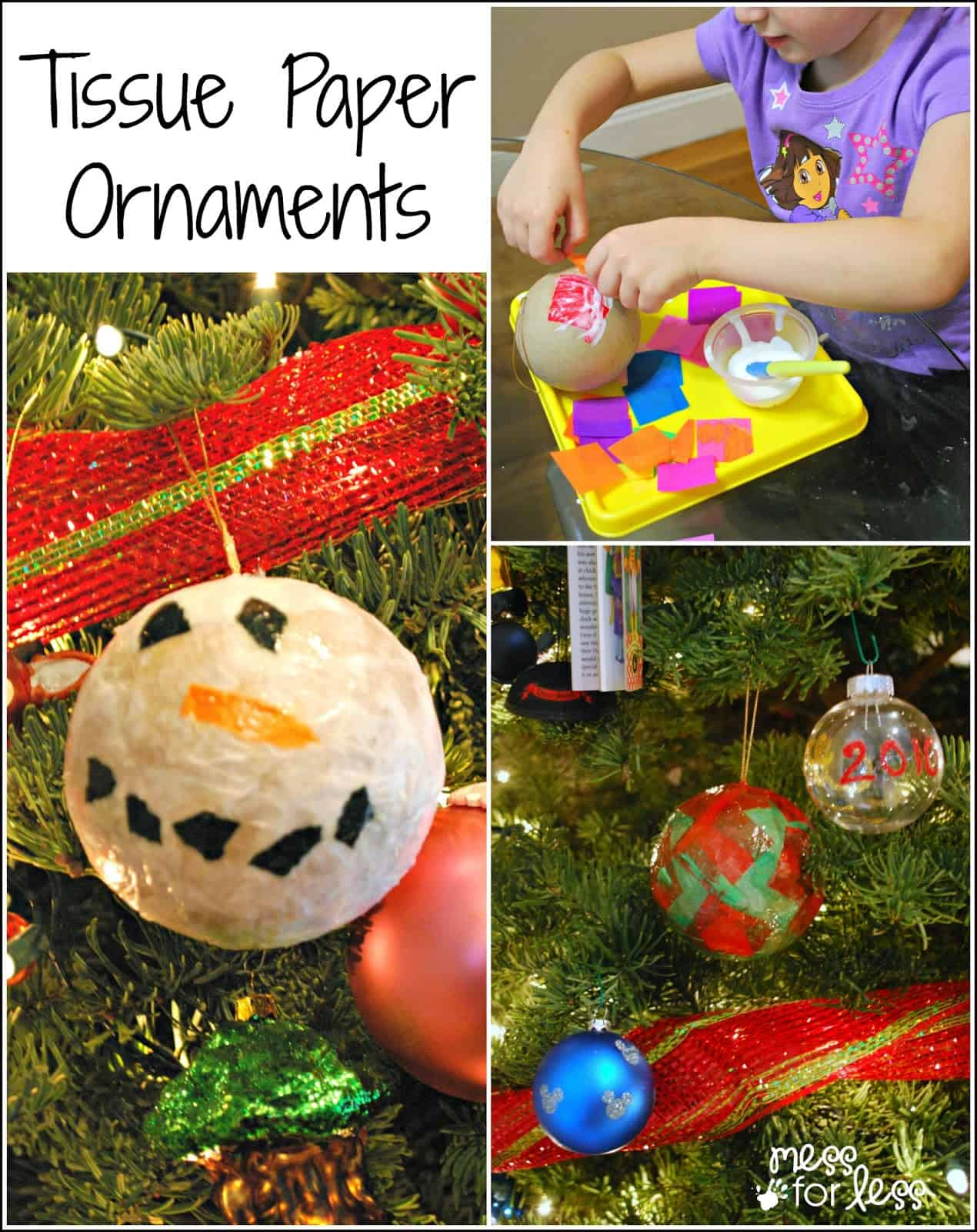 Homemade christmas ornaments with tissue paper mess for less homemade christmas ornaments with tissue paper jeuxipadfo Choice Image