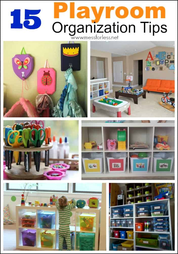 Kids Playroom Organization Tips Mess For Less