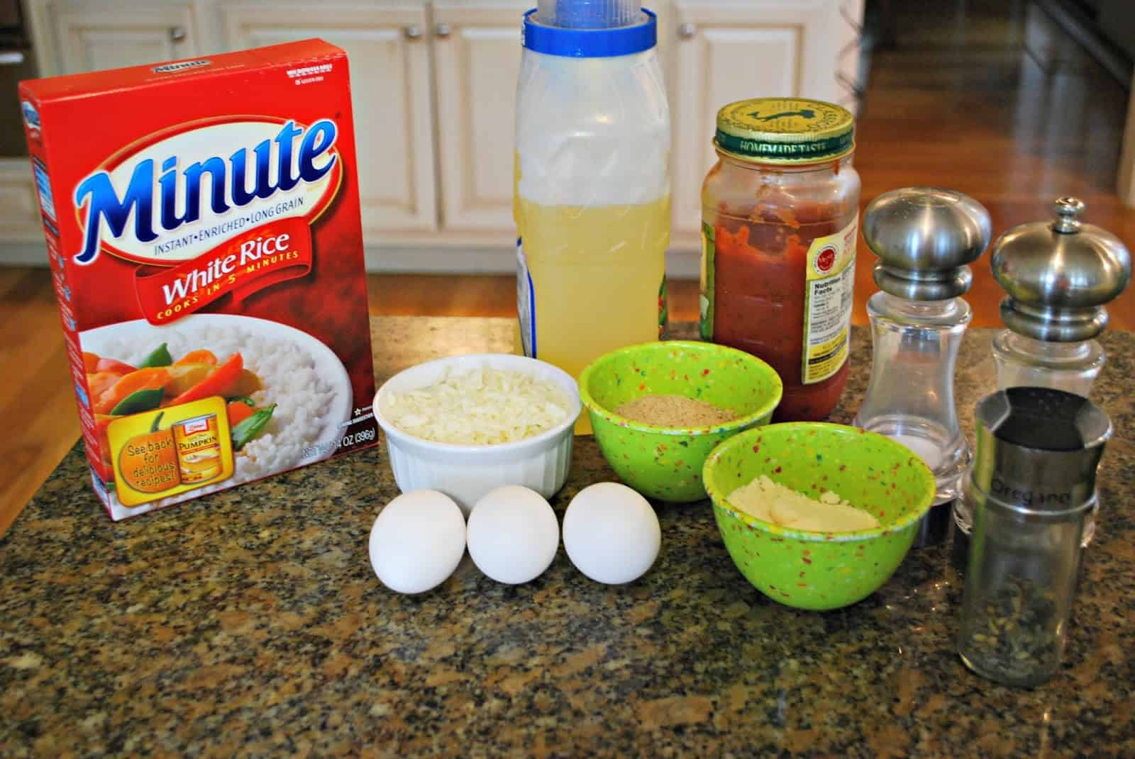 Ingredients to make arancini #sponsored #MinuteHoliday
