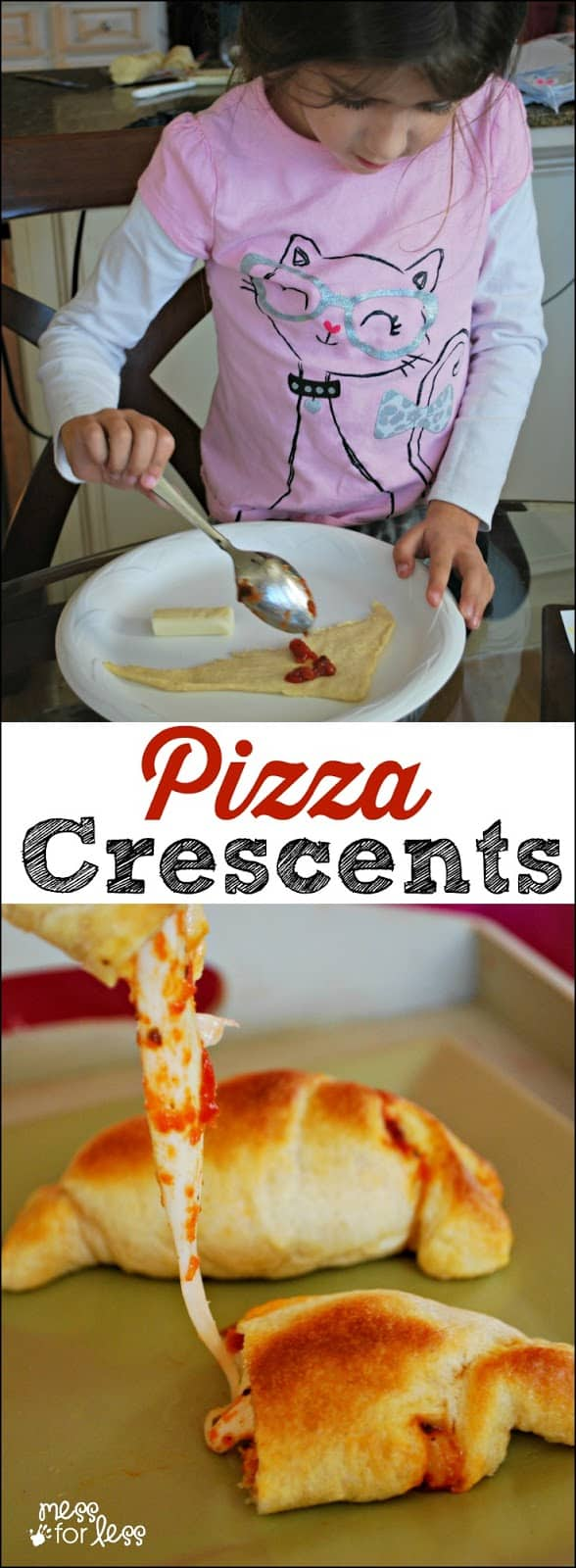 Crescent Roll Recipes: Pizza Crescents - Mess for Less