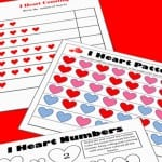 Valentine's Math – Kindergarten Worksheets