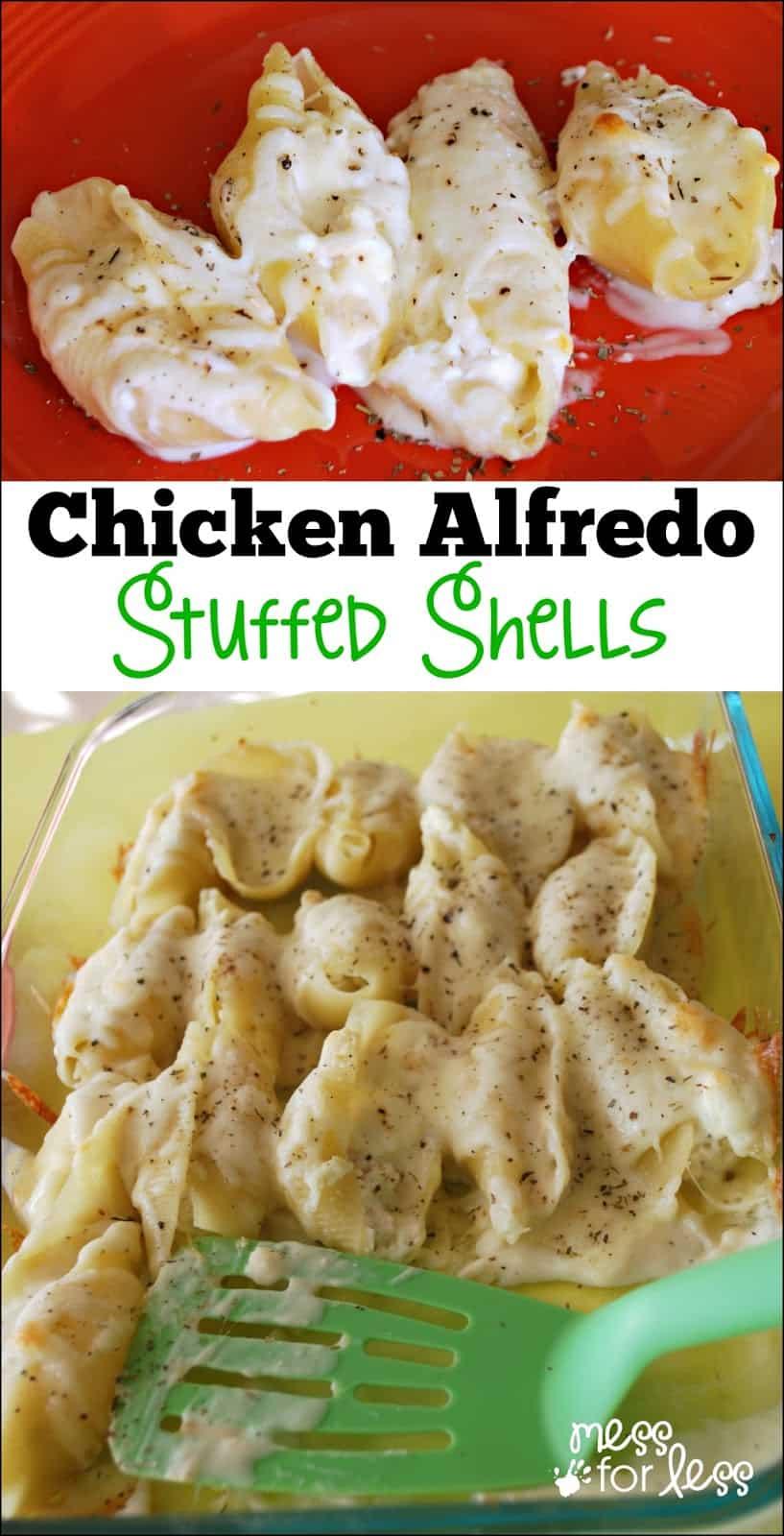 Chicken Alfredo Stuffed Shells  Yummy Twist On Traditional Stuffed Shells  Recipefort Food At