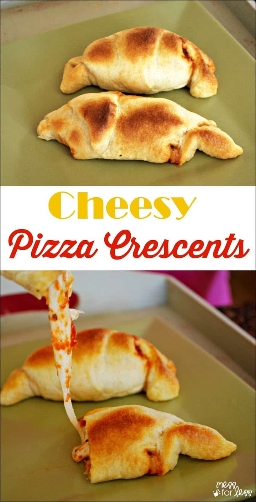 Crescent Roll Recipes: Pizza Crescents - Only 3 ingredients!