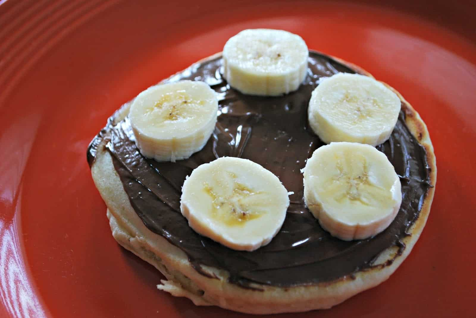 Homemade Pancakes with Nutella and Bananas - Mess for Less