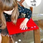 Math Game: Pattern Making with Felt