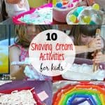 10 Shaving Cream Activities for Kids