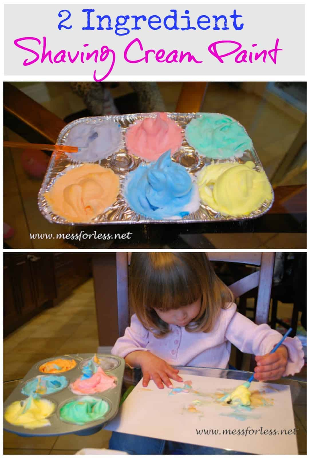 10 shaving cream activities for kids mess for less