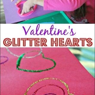 Valentine Ideas for Kids – Glitter Hearts