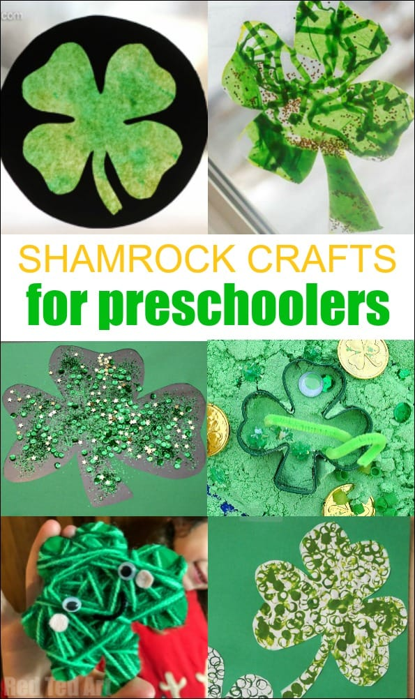 Shamrock Crafts for Toddlers and Preschoolers