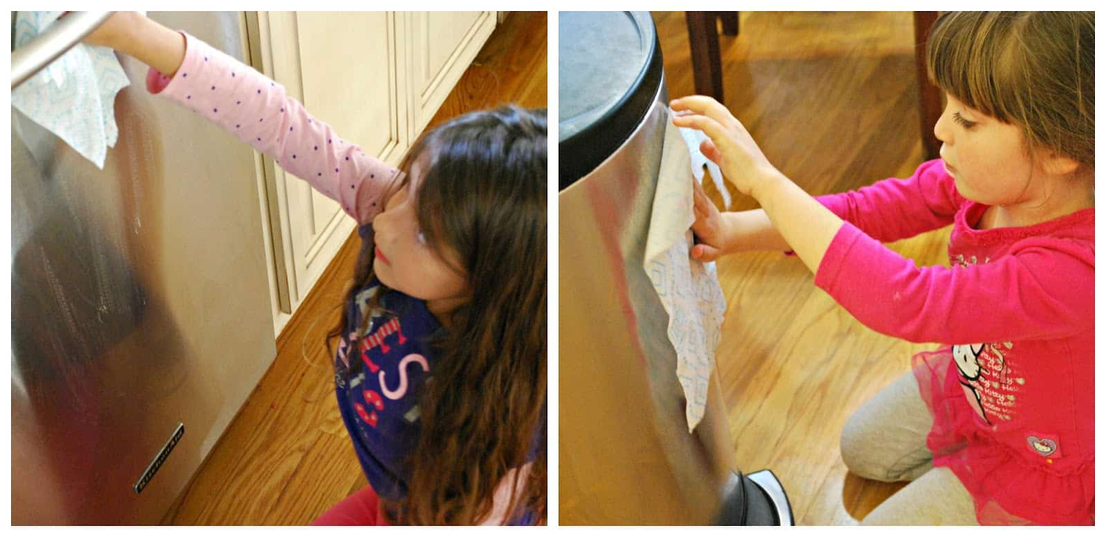 kids helping to clean #ad