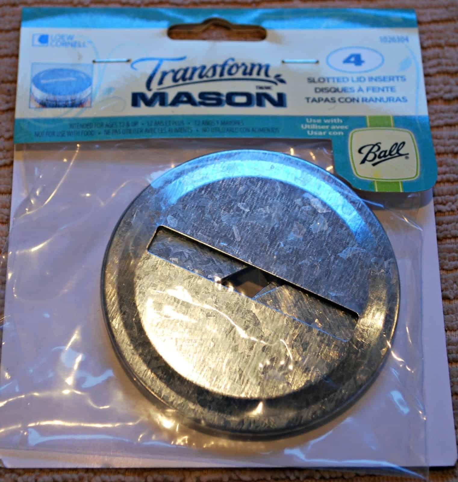 slotted mason jar lid