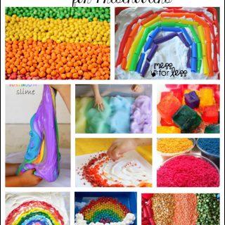 25 Rainbow Sensory Activities for Preschoolers