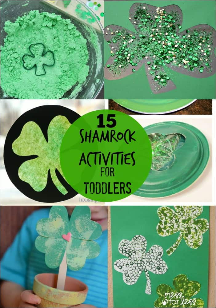 15 Shamrock Activities for Toddlers - Mess for Less