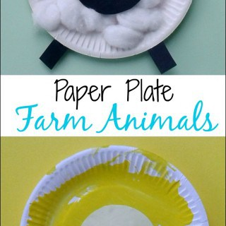 Crafts for Toddlers – Paper Plate Baby Farm Animals