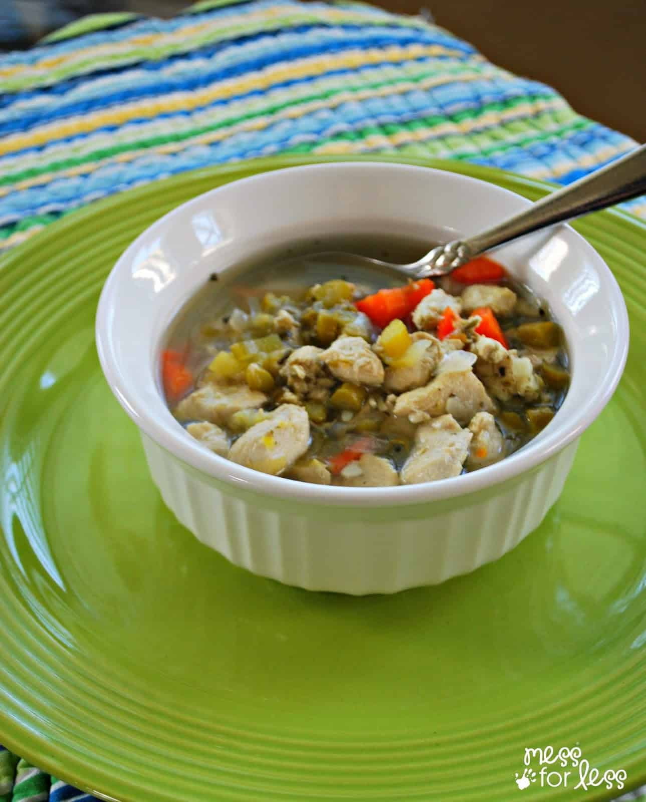 Chicken Vegetable Soup - So comforting and filling!