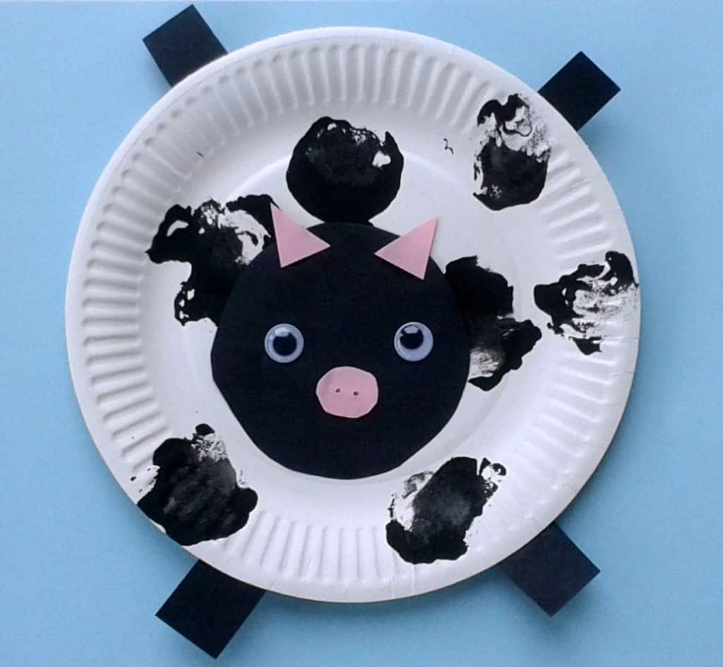 How To Make Paper Plate Baby Cows