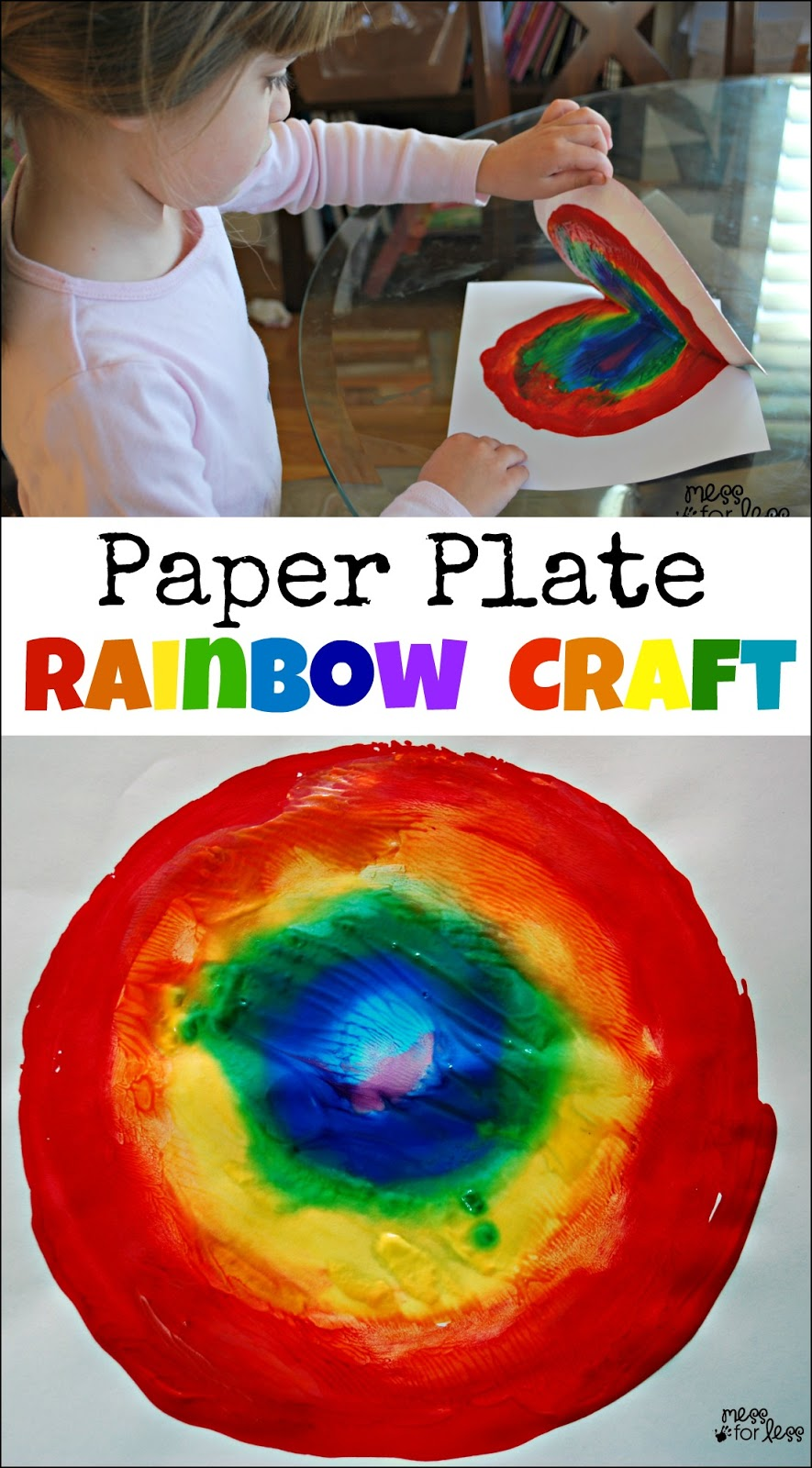 rainbow paper craft paper plate rainbow craft mess for less 2809