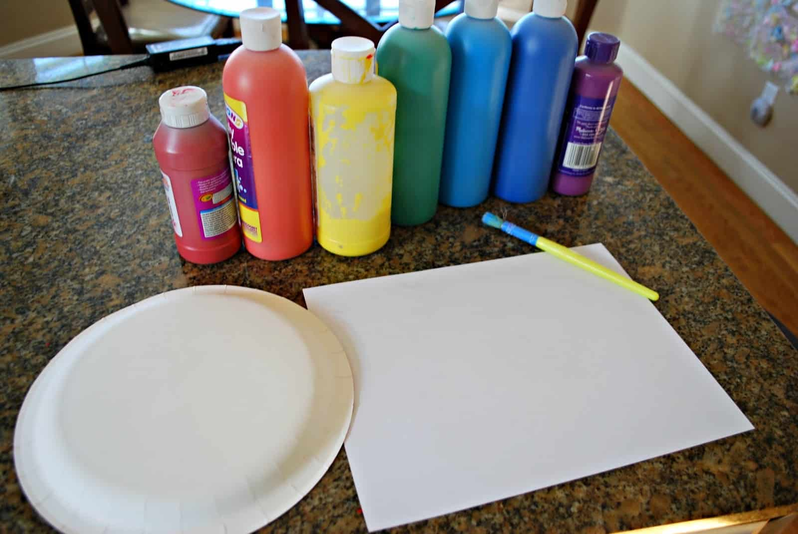 supplies for a rainbow craft