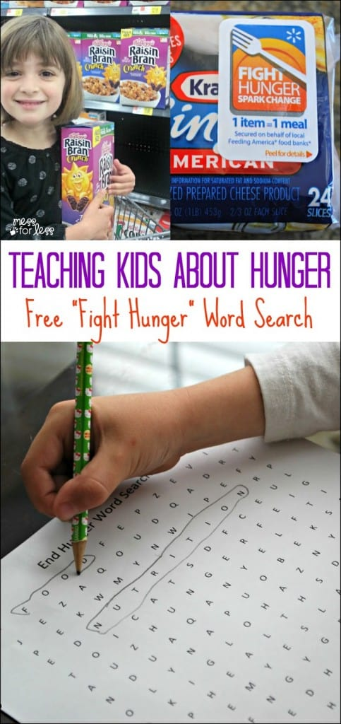 Teaching Kids About Hunger - Discuss with kids how they can help with hunger and download a free Fight Hunger word search. #ad #WeSparkChange #Shop2Give