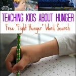 Teaching Kids to Fight Hunger – Free Word Search