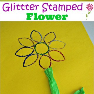 Glitter Flower Art for Kids