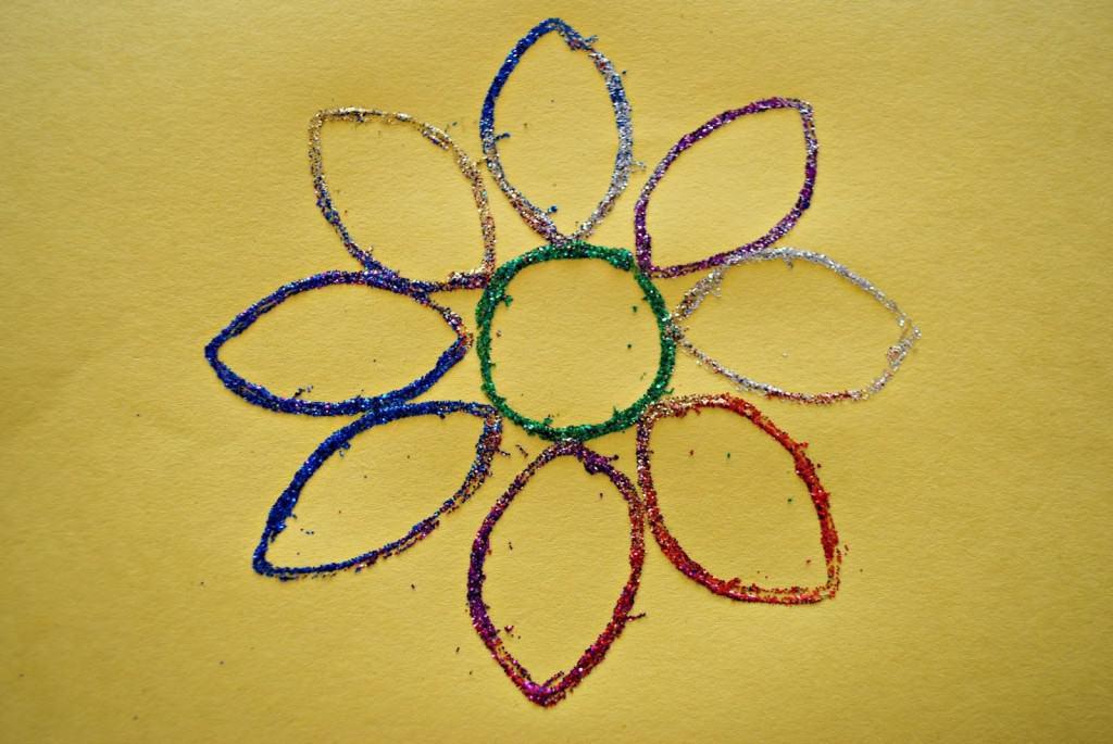 glitter flower art
