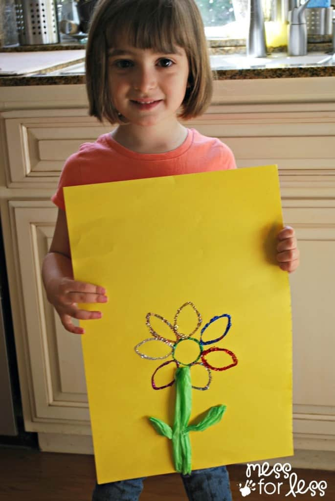 kids spring art project