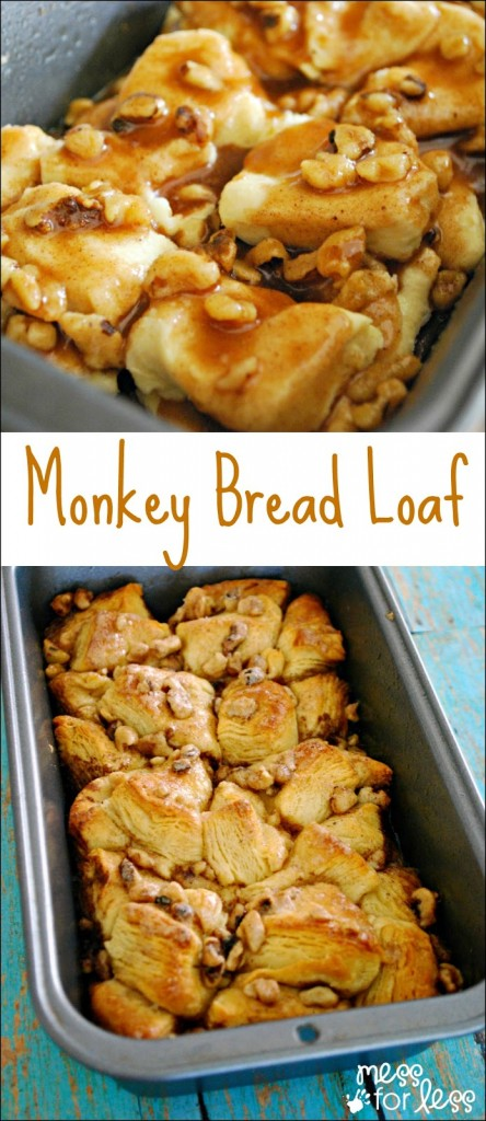 Monkey Bread Loaf - a fun take on traditional monkey bread. Easy and delicious!