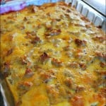 The BEST Sausage, Egg and Biscuit Breakfast Casserole