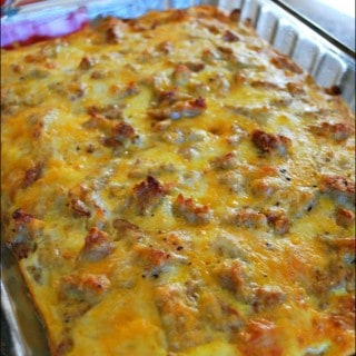 Sausage, Egg and Biscuit Breakfast Casserole - Food Fun Friday