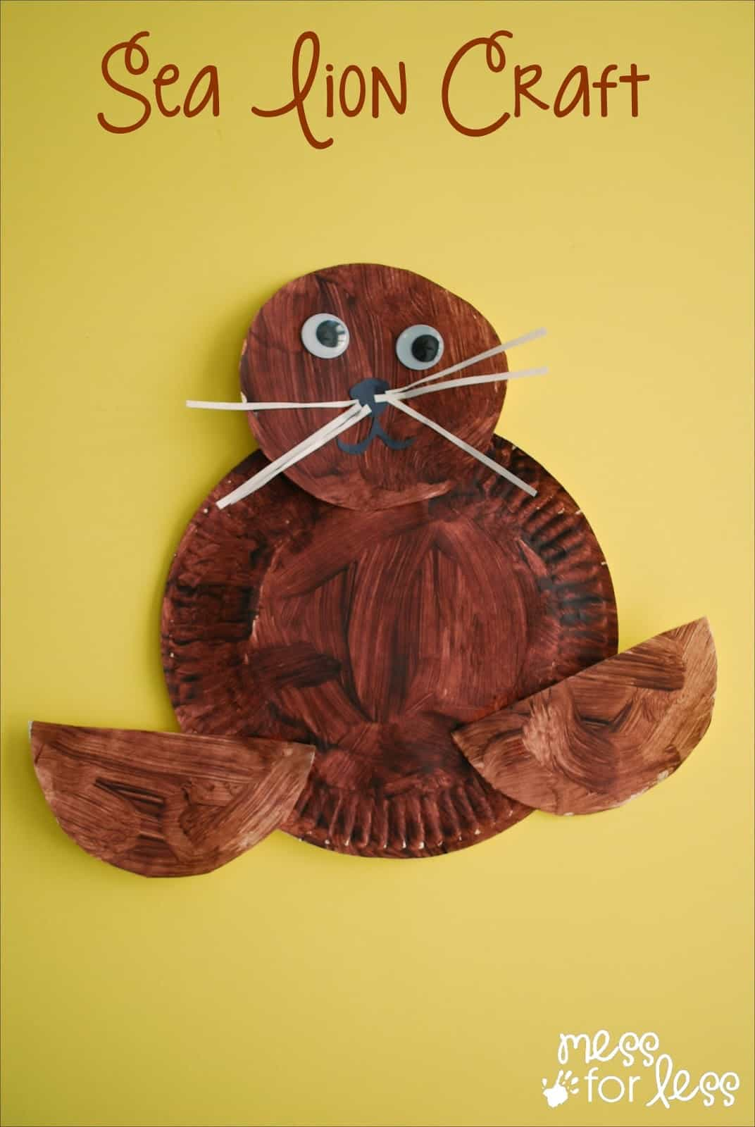 Uniquely californian sea lion craft mess for less for Lion crafts for toddlers