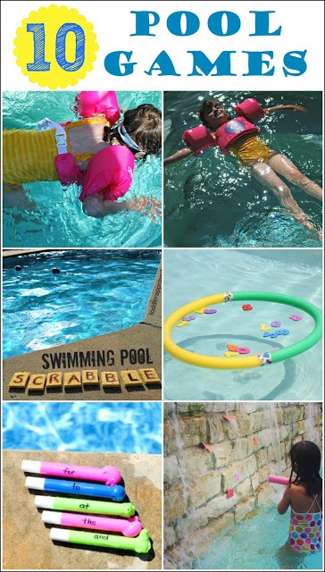 10 pool games for kids mess for less for Games to play in a swimming pool