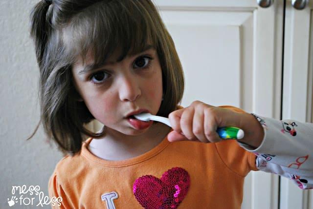 Teaching Better Brushing Habits #ad #Smilestones